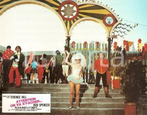 1974 ALTRIMENTI CI ARRABBIAMO Patty SHEPARD at luna park Lobby card ED. FRANCESE
