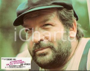 1974 ALTRIMENTI CI ARRABBIAMO Bud SPENCER Portrait *Lobby card EDIZIONE FRANCESE