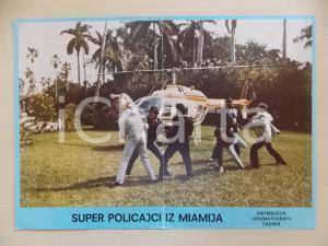 1985 MIAMI SUPERCOPS Bud SPENCER durante una rissa *Lobby card EDIZIONE CROATA
