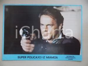 1985 MIAMI SUPERCOPS Terence HILL punta una pistola *Lobby card EDIZIONE CROATA