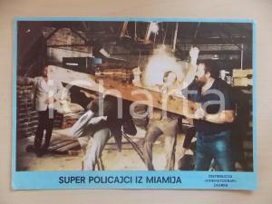 1985 MIAMI SUPERCOPS Bud SPENCER colpisce uomo con trave *Lobby card ED. CROATA