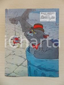 1970 GLI ARISTOGATTI Walt DISNEY - Scat Cat cattura il topo Groviera *Lobby card