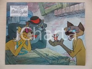 1970 GLI ARISTOGATTI Walt DISNEY - Scat Cat SHUN GON Hit Cat GROVIERA Lobby card