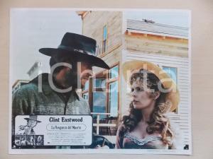1973 LO STRANIERO SENZA NOME Clint EASTWOOD Marianna HILL *Lobby card 34x28 cm