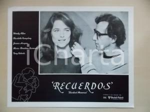 1980 STARDUST MEMORIES Woody ALLEN Charlotte RAMPLING Portrait *Lobby card 34x28
