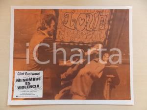 1968 L'UOMO DALLA CRAVATTA DI CUOIO Clint EASTWOOD *Lobby card ED. MESSICANA