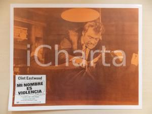 1968 L'UOMO DALLA CRAVATTA DI CUOIO Clint EASTWOOD Rissa in un bar *Lobby card