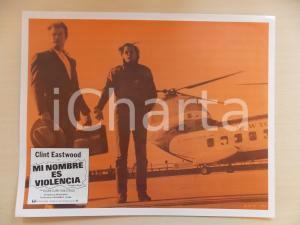 1968 L'UOMO DALLA CRAVATTA DI CUOIO Clint EASTWOOD Boeing Vertol 101 *Lobby card