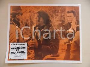 1968 L'UOMO DALLA CRAVATTA DI CUOIO Clint EASTWOOD Don STROUD Lobby card 35x28
