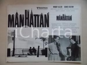 1979 MANHATTAN Woody ALLEN parla con Meryl STREEP *Lobby card EDIZIONE MESSICANA