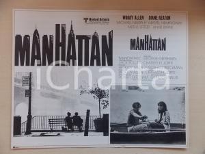 1979 MANHATTAN Woody ALLEN and Diane KEATON on a boat *Lobby card 40x31 cm