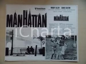 1979 MANHATTAN Woody ALLEN e Diane KEATON *Lobby card 40x31 EDIZIONE MESSICANA