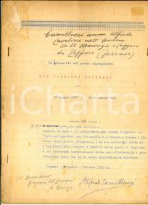 1942 COPPARO Alfredo CAMILLUCCI - Don Costante Businaro *Dattiloscritto 15 pp.