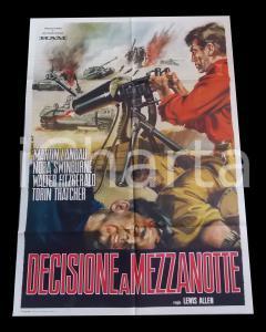 1963 DECISIONE A MEZZANOTTE Martin LANDAU Nora SWINBURNE *Manifesto 100x140 cm