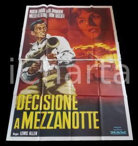 1963 DECISIONE A MEZZANOTTE Martin LANDAU Nora SWINBURNE *Manifesto 140x200 cm