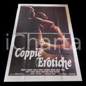 1975 ca COPPIE EROTICHE Renate LARSEN Klaus TINNEY Michael MAIEN *Manifesto