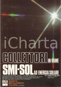 1977 53° FIERA DI MILANO Collettori in rame SMI - SOL *Cartolina commerciale FG