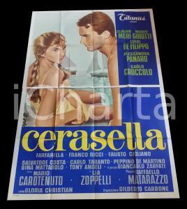 1959 CERASELLA Claudia MORI Terence HILL Luigi DE FILIPPO *Manifesto 140x200 cm