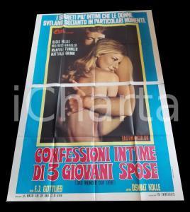1968 CONFESSIONI INTIME DI TRE GIOVANI SPOSE Biggi FREYER *Manifesto 140x200 cm