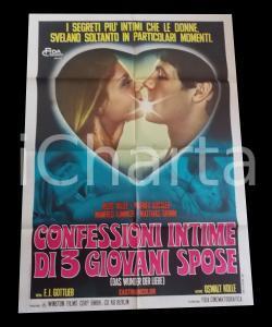1968 CONFESSIONI INTIME DI TRE GIOVANI SPOSE Biggi FREYER *Manifesto 100x140 cm