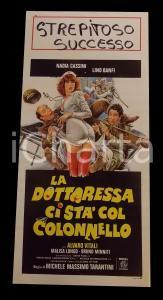 1980 LA DOTTORESSA CI STA COL COLONNELLO Nadia CASSINI Lino BANFI *Manifesto
