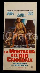 1978 LA MONTAGNA DEL DIO CANNIBALE Ursula ANDRESS Sergio MARTINO *Manifesto