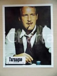 1973 LA STANGATA Paul NEWMAN Ritratto con sigaro *Lobby card EDIZIONE FRANCESE