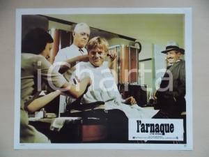 1973 LA STANGATA Robert REDFORD dal barbiere *Lobby card EDIZIONE FRANCESE