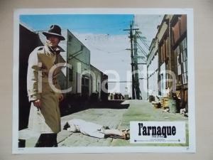 1973 LA STANGATA Robert REDFORD con impermeabile *Lobby card EDIZIONE FRANCESE