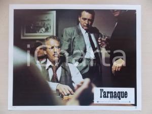 1973 LA STANGATA Paul NEWMAN gioca a poker *Lobby card EDIZIONE FRANCESE 29x23