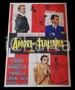 1966 AMORE ALL'ITALIANA - SUPERDIABOLICI Walter CHIARI Paolo PANELLI *Manifesto