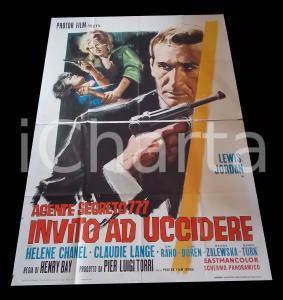 1966 AGENTE SEGRETO 777 Invito a uccidere - Tiziano CORTINI *Manifesto 140x200