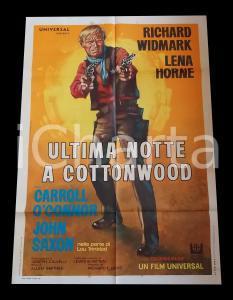 1969 ULTIMA NOTTE A COTTONWOOD Richard WIDMARK Lena HORNE *Manifesto WESTERN