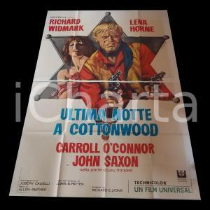 1969 ULTIMA NOTTE A COTTONWOOD Richard WIDMARK Lena HORNE Manifesto WESTERN