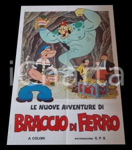 1970 ca LE NUOVE AVVENTURE DI BRACCIO DI FERRO *Manifesto ANIMAZIONE 100x140 cm