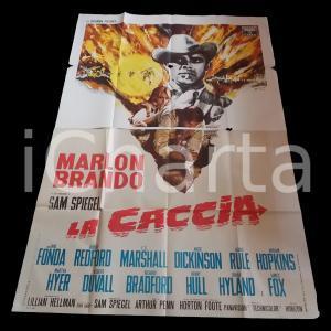 1966 LA CACCIA Marlon BRANDO Jane FONDA Robert REDFORD *Manifesto 140x200 cm
