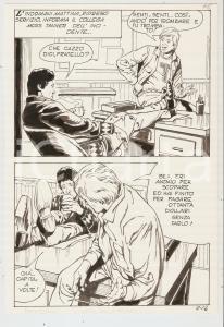 1983 QUEI DUE DELLA LUCE ROSSA 12 tav.16 originale Luciano BERNASCONI Edifumetto