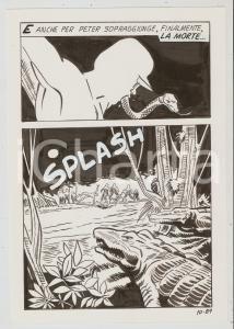1975 ca SUPERFUMETTI n.12 Atrocità in Amazzonia - Tavola 89 originale EDIFUMETTO