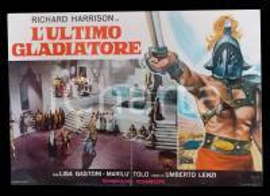 1964 L'ULTIMO GLADIATORE Umberto LENZI Richard HARRISON Lisa GASTONI *Lobby card