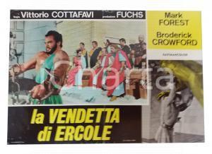 1960 LA VENDETTA DI ERCOLE Mark FOREST Broderick CRAWFORD Gaby ANDRE' Lobby card
