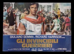 1964 LA RIVOLTA DEI PRETORIANI Giuliano GEMMA Richard HARRISON *Lobby card 63x45