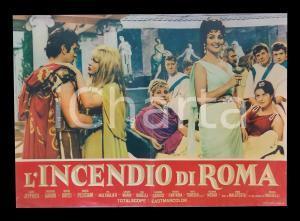 1965 L'INCENDIO DI ROMA Moira ORFEI nel ruolo di POPPEA *Lobby card 63x45