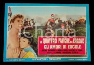 1960 GLI AMORI DI ERCOLE Mike HARGITAY Jayne MANSFIELD *Lobby card PEPLUM 63x45