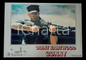 1987 GUNNY Clint EASTWOOD imbraccia un fucile *Lobby card 63x45 cm