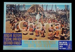 1962 GLI AMMUTINATI DEL BOUNTY Marlon BRANDO danza con indigene *Lobby card