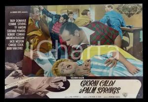 1963 GIORNI CALDI A PALM SPRINGS Rissa in un bar *Lobby card 63x45 cm
