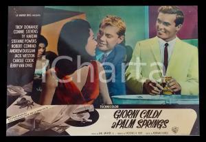 1963 GIORNI CALDI A PALM SPRINGS Troy DONAHUE Stefanie POWERS al bar *Lobby card