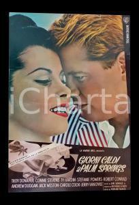 1963 GIORNI CALDI A PALM SPRINGS Stefanie POWERS Troy DONAHUE *Lobby card 45x63