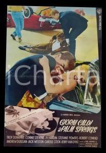 1963 GIORNI CALDI A PALM SPRINGS Connie STEVENS Troy DONAHUE *Lobby card 45x63