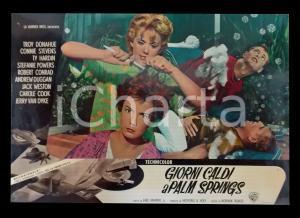 1963 GIORNI CALDI A PALM SPRINGS Zeme NORTH Connie STEVENS *Lobby card 63x45 cm